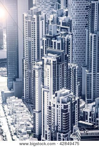 Picture of Dubai downtown, arabic luxury buildings, UAE, United Arab Emirates, business center, cityscape, expensive luxurious property, skyscrapers, hight building, travel and holiday concept