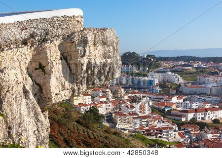 Nazare, Portugal, View From Cliff Above