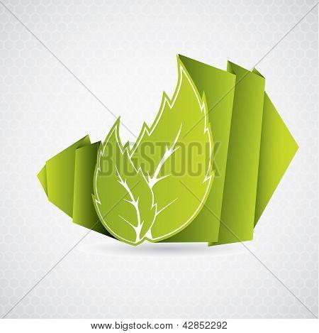 Hoja de eco Origami