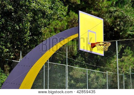 Basket ball board in the park