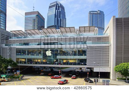 Apple Inc. opened its  first store in Hong Kong.