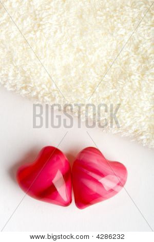 Two Hearts With Towel