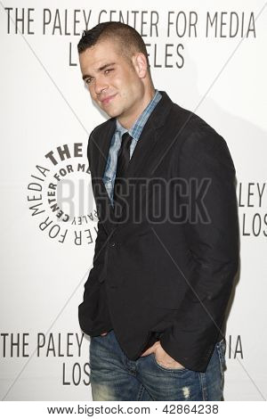 BEVERLY HILLS - MAR 16:  Mark Salling arriving at the 2011 PaleyFest honoring 'Glee' held at the Saban Theater in Beverly Hills on March 16, 2010.