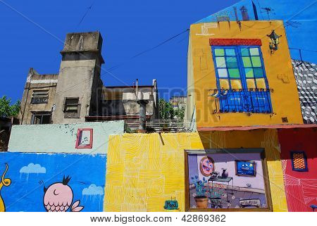 Colorful houses in Caminito Street in La Boca