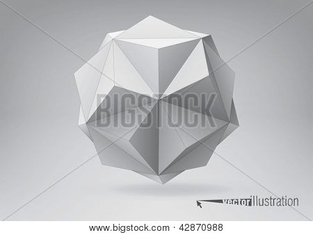 Small triambic icosahedron for your graphic design. You can change colors