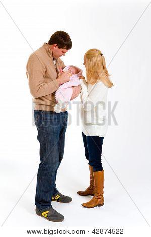 Newborn Baby And Family