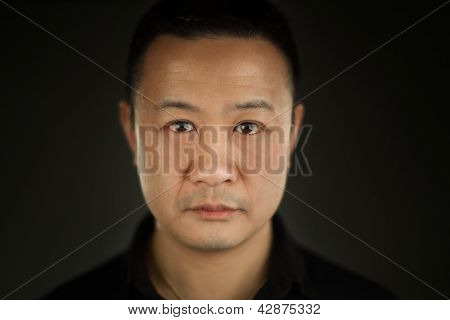 A Close Up Of A Young Asian Man