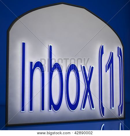Inbox One Sign Shows New Messages