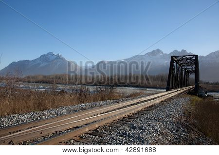 Narrow Railroad Bridge