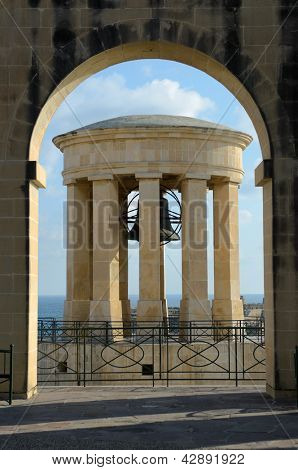 the Siege Bell War Memorial in Valletta - Malta - commemorates the victory of the Allied forces during the Second Siege of Malta from 1940-1943