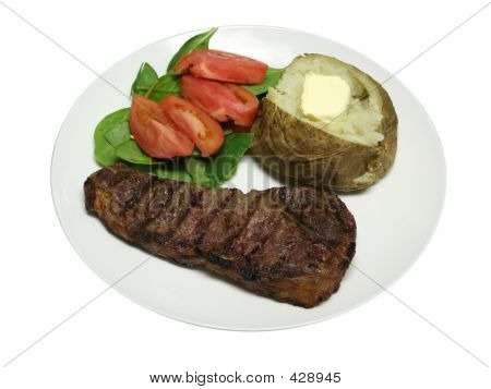 Isolated Grilled Steak Dinner