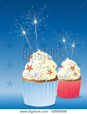 July Fourth Cup Cake