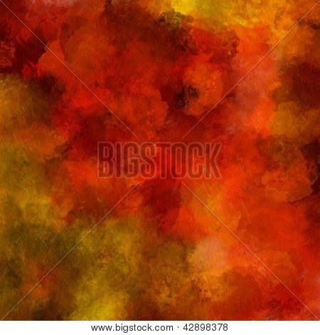 art abstract painted background in red and golden colors