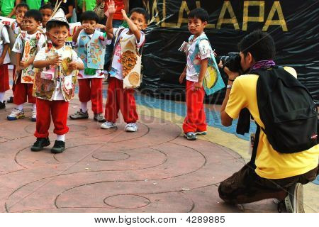 Photographer Shooting Children