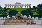 stock photo of schoenbrunn  - view of the Gloriette of the park Schoenbrunn in Vienna - JPG