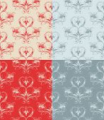 stock photo of dessin  - Various Seamless Wallpaper Backgrounds  - JPG