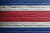 Brick Wall With A Painting Of A Flag, Thailand