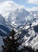 Maroon Bells In Winter