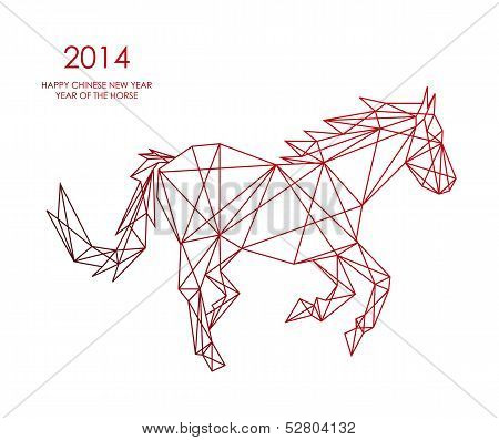 Chinese New Year Of The Horse Triangle Web Shape File.