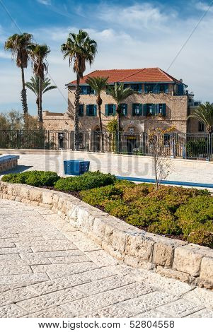 House with palms in Jaffa Tel Aviv