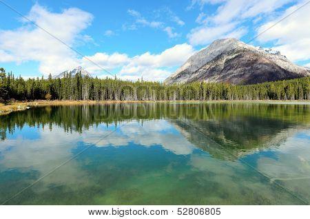 Reflection Of Mount Buller In Buller Pond