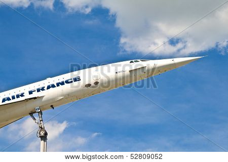 Aircraft Concorde In The Museum In Sinsheim