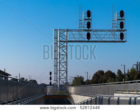 Railway Signal And Stanchion