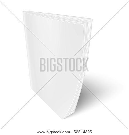Blank vertical magazine template.