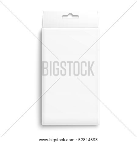 White paper packaging box.