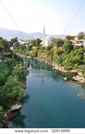 View Of Mostar In Bosnia Hercegovina