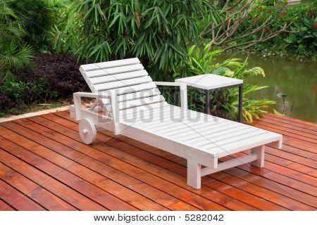 Wooden Reclining Chair