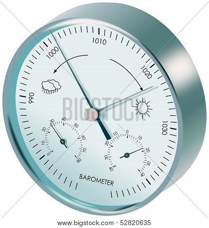 Metal analogue barometer