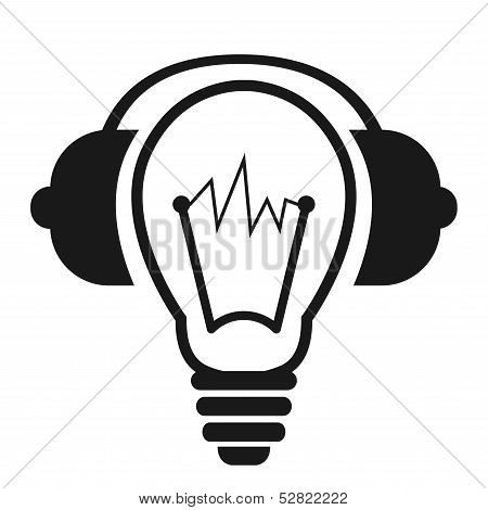 Light Bulb With Headphones