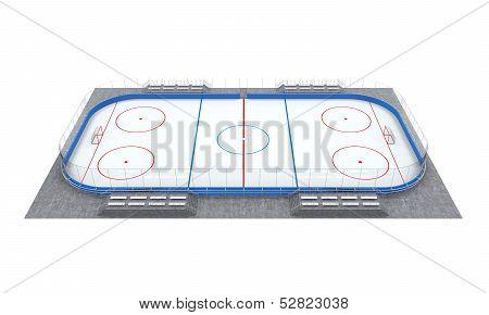 Ice Hockey Field Isolated