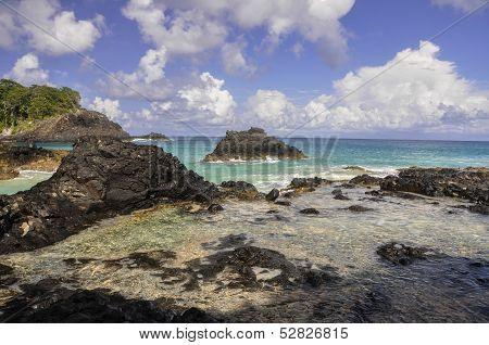 Cliffs, Fernando De Noronha, Brazil