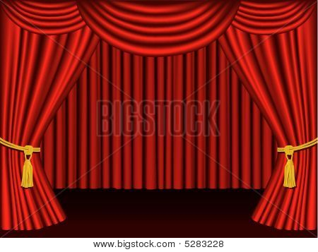 Theater Curtains.  Grouped And Layered For Easy Editing.