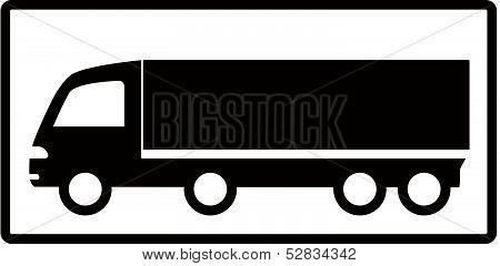 truck on white background