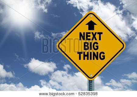 Yellow cautionary road sign the next big thing