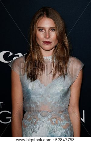 NEW YORK- OCT 24: Model Dree Hemingway attends the global premiere of Canon's