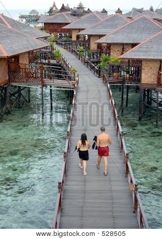 Walk Way Above Shallow Sea