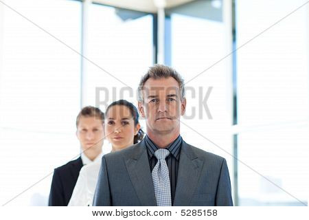 Manager Leading A Business Team