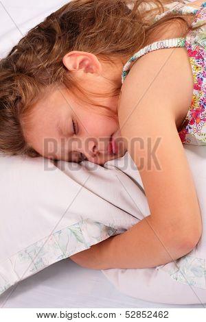 Beautiful Little Girl Sleeping