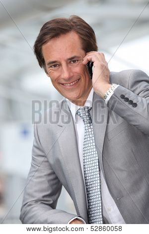 Businessman on mobile phone