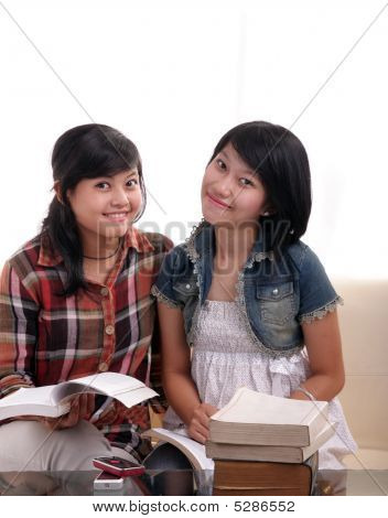 Asian Student With Books
