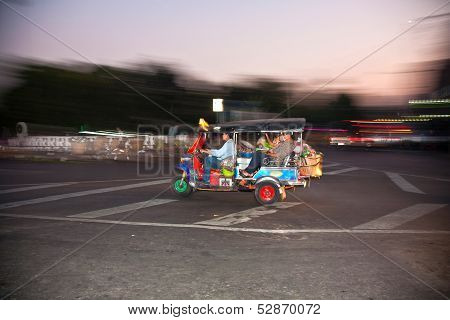 People Returning From Night Market