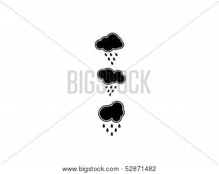 dark clouds rain