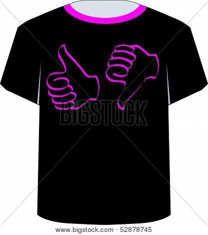 T Shirt Template- Like dislike graphic