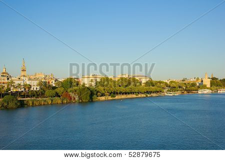 Sevilla on Guadalquivir river, Spain