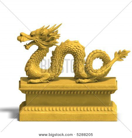 Statue Dragon Gold C 06 A_0001