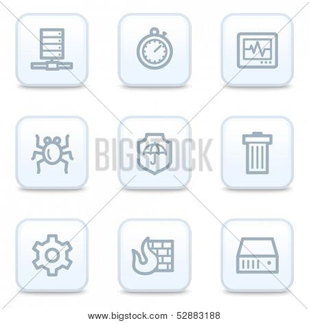 Internet security web icons, square buttons